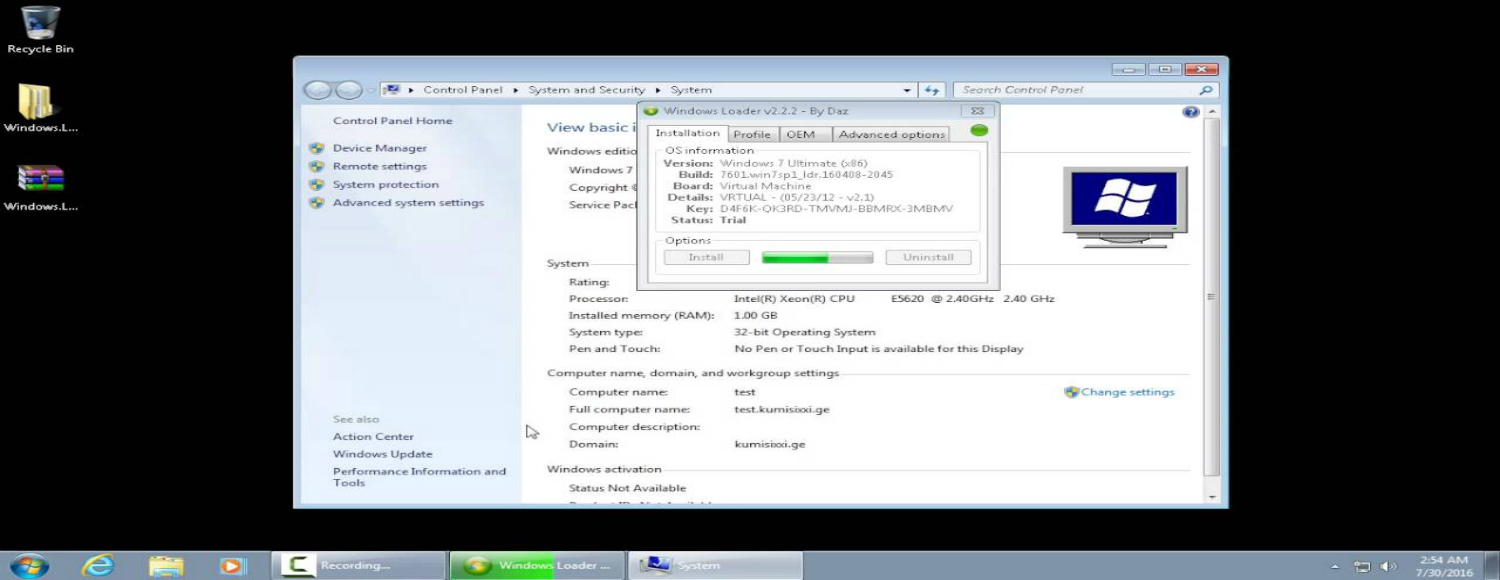 how to activate my windows 7