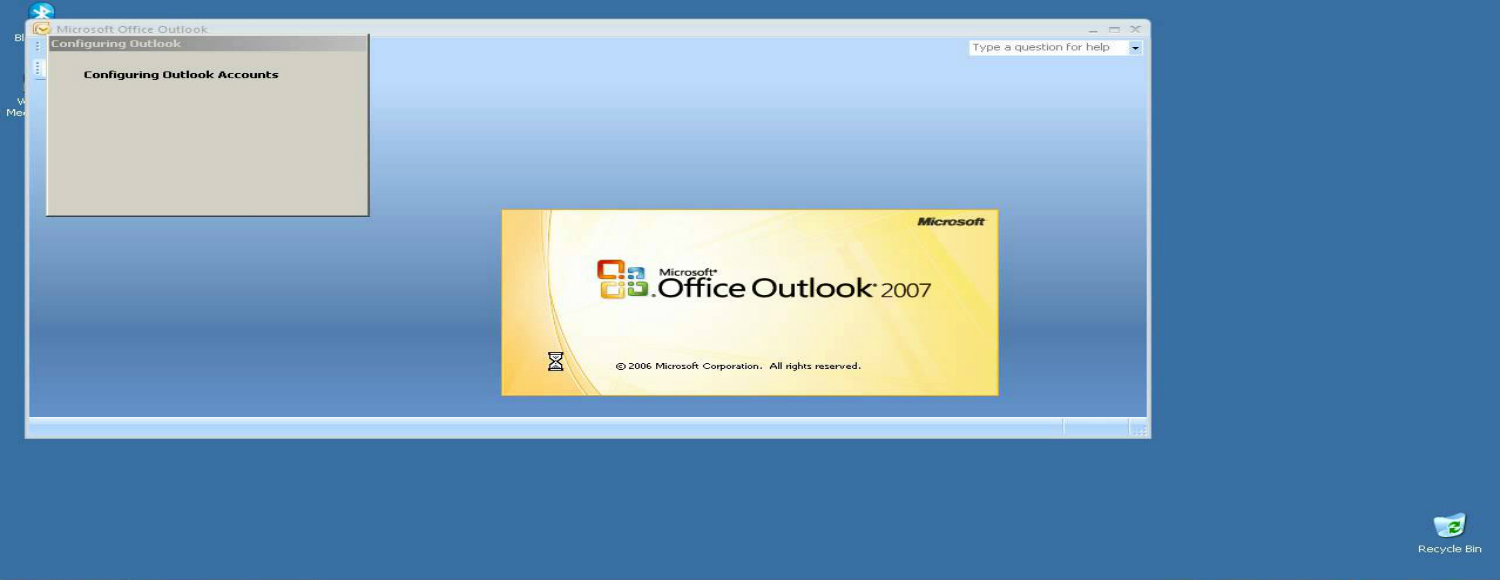 Cannot start Microsoft Outlook 2007